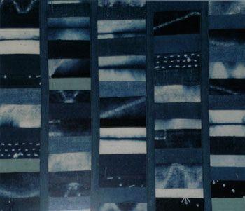 indigo sampler from the dye studio at the Little Indigo Museum in Kitayama