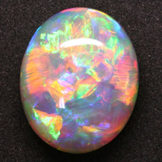 Gem 7.75 ct. Lightning Ridge Crystal, Rotated 90 degrees