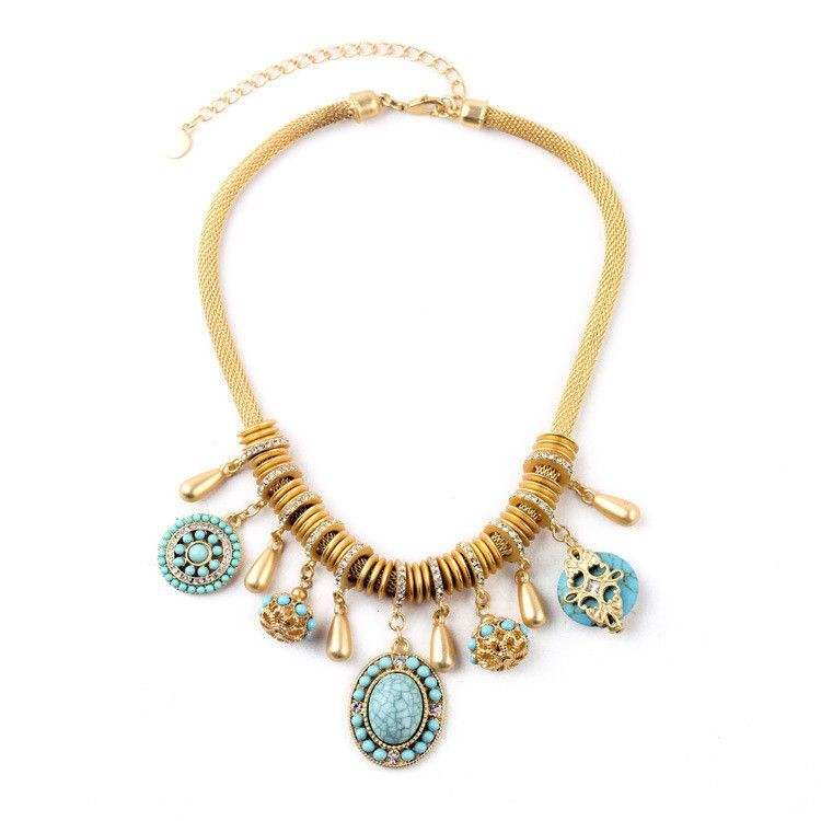 Constance Necklace Blue