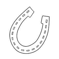 Horse Shoe Silhouette Coloring Pages | Horse coloring ...