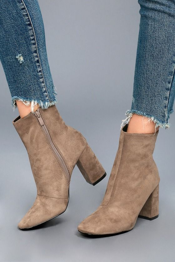 00100da8f06 Look forward to the amazing outfits that await you in the My Generation  Taupe Suede High Heel Mid-Calf Boots! A squared-off toe meets a fitted 7