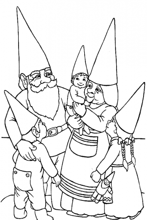 Gnome Coloring Pages coloring.rocks! in 2020 Family
