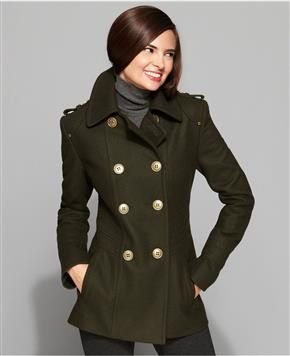 Macy's Military-inspired pea coat