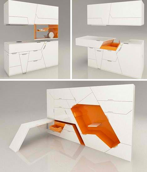 Fold Out Room: 12 Ultra Compact Living Pods. Furniture ...