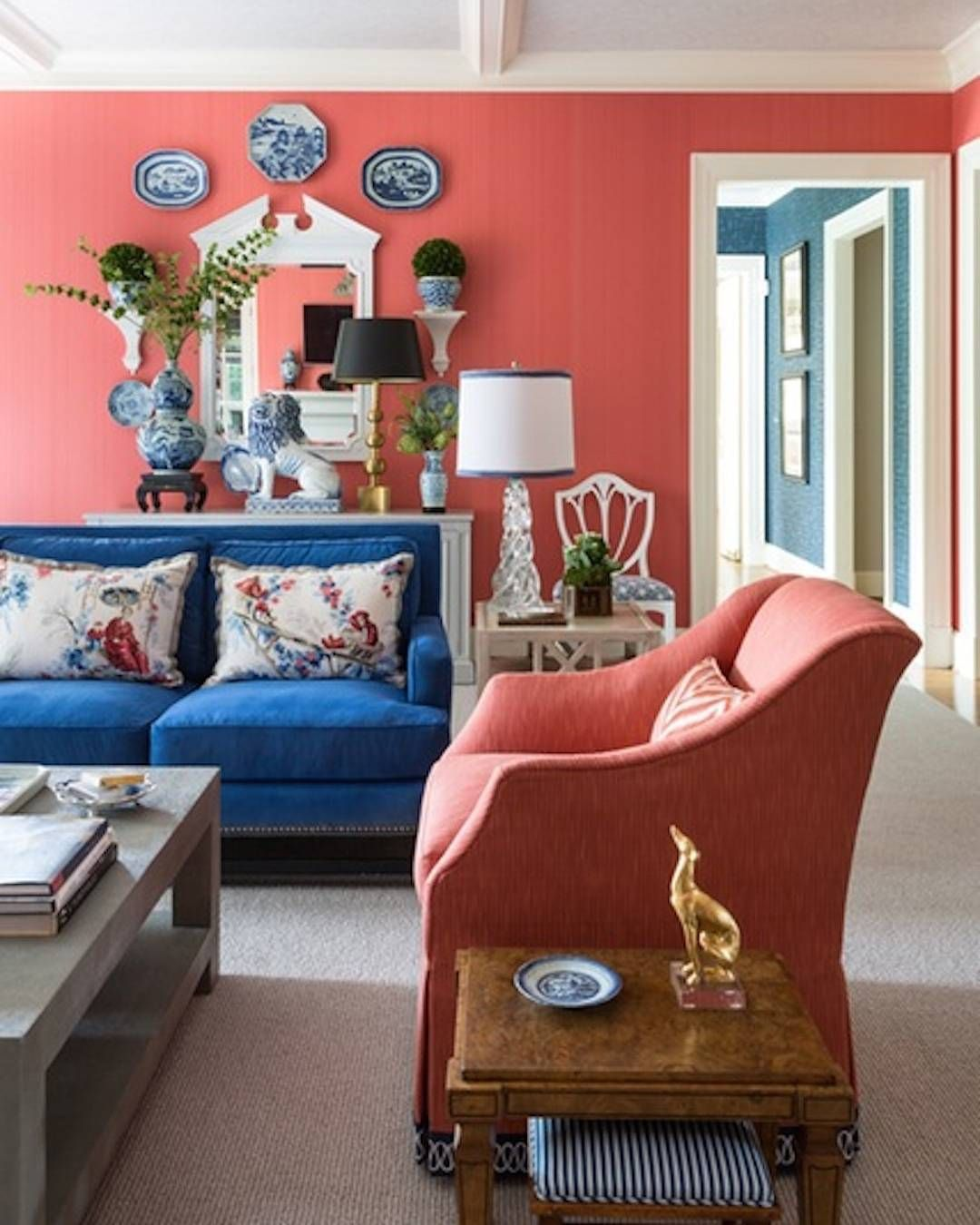 Instagram Coral Room Coral Home Decor Coral Living Rooms