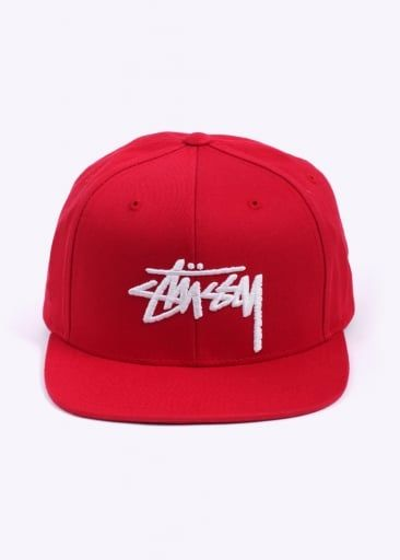 6687f38fbbb Stussy Stock Snapback - Red