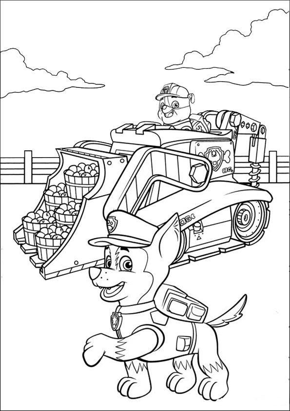Paw Patrol Ausmalbilder Traktor Ausmalbilder