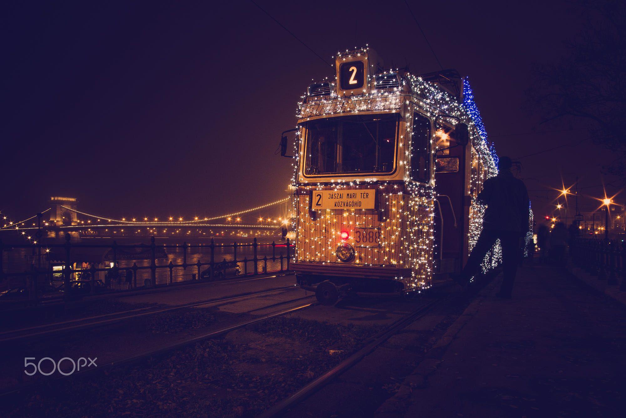 Christmas Light Tram in Budapest by Balázs Lukácsi on 500px