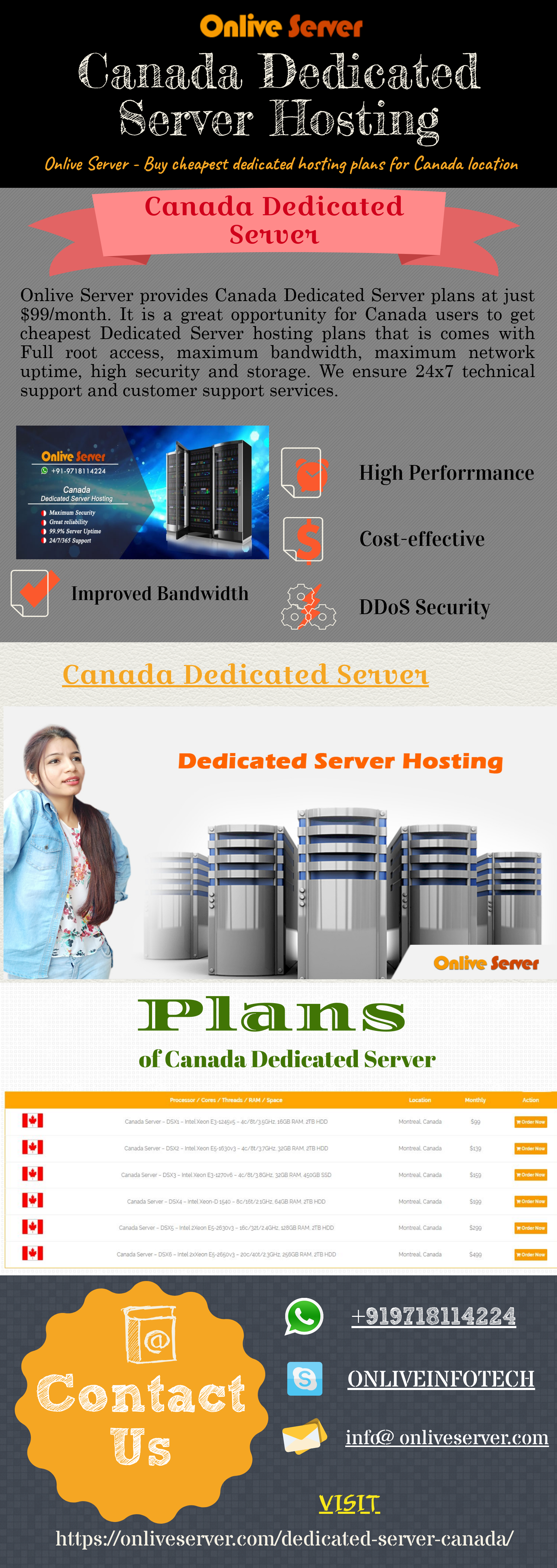 Best Canada dedicated server hosting plan buy at low cost