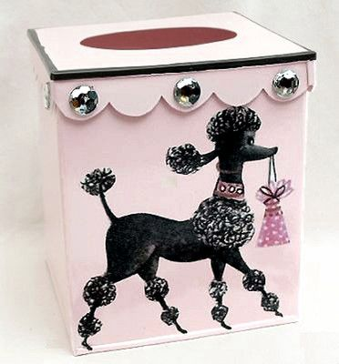 Pink Poodle Tissue Box Cover Retro 50 S Tissue Holder Bathroom