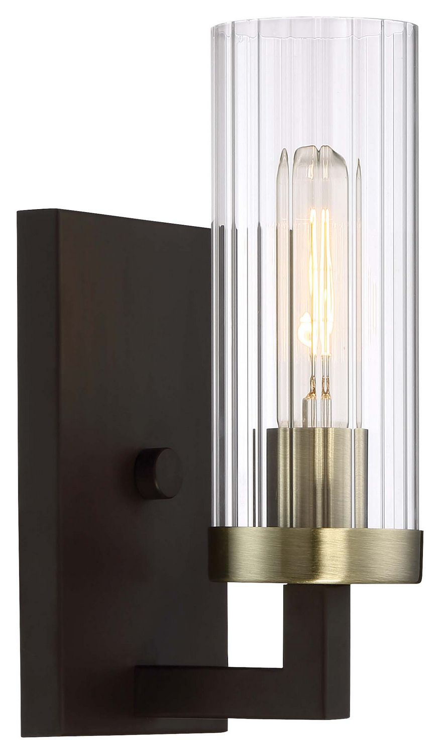 Ainsley Court- Aged Bronze w/Brushed Brass | Sconces ... on Bathroom Sconce Lights Brushed Bronze id=23151