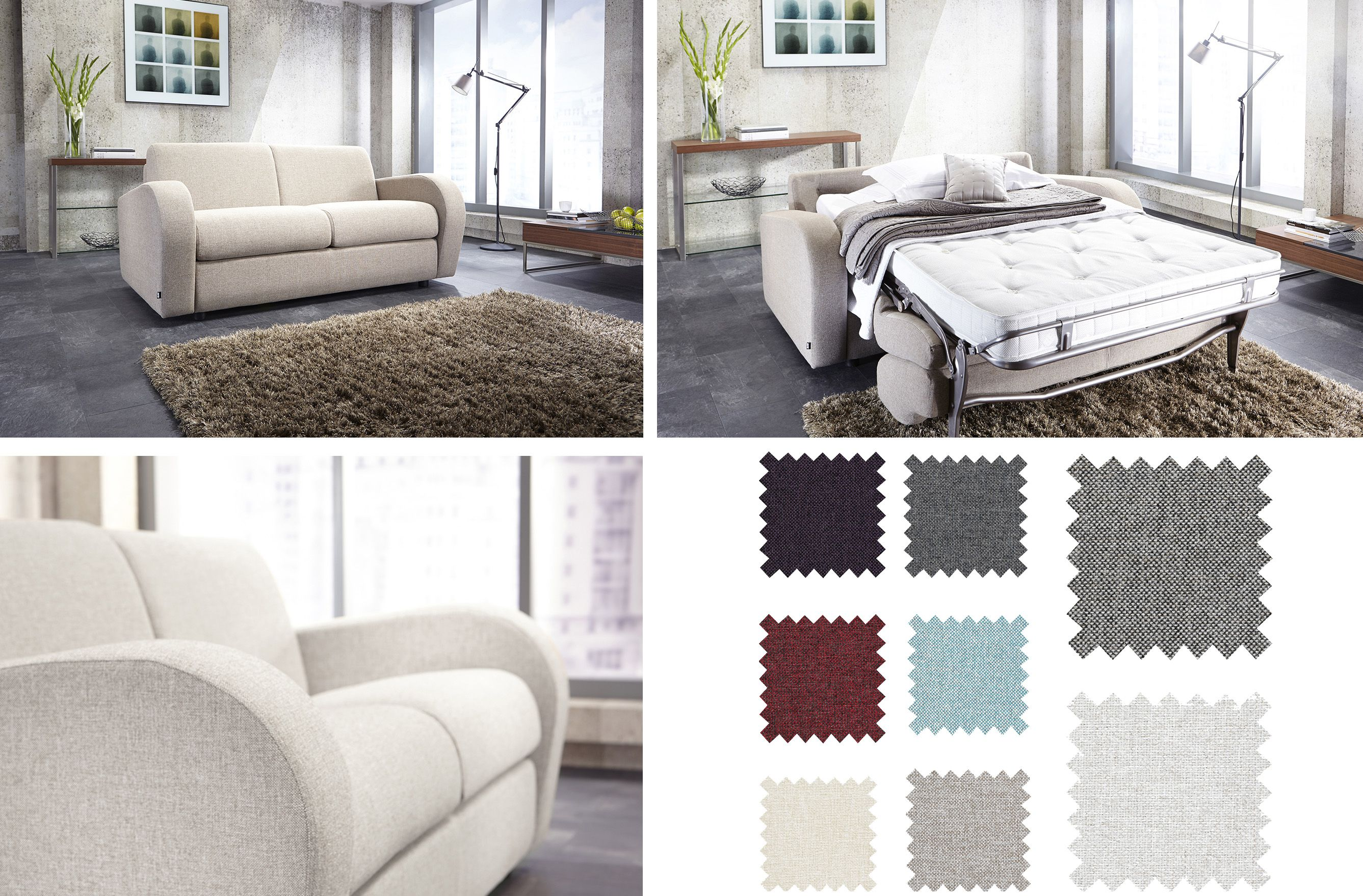 Retro White Sofa Bed With Luxury Reflex Foam Seat Made In Uk Luxury Sofa Bed White Sofa Bed Folding Guest Bed