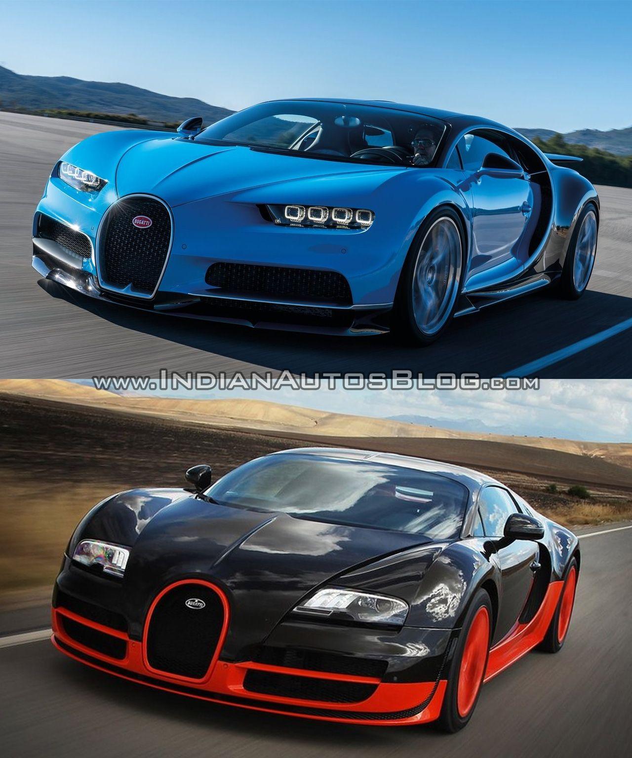 Bugatti Veyron Vs Bugatti Chiron In Images Bugatti Chiron