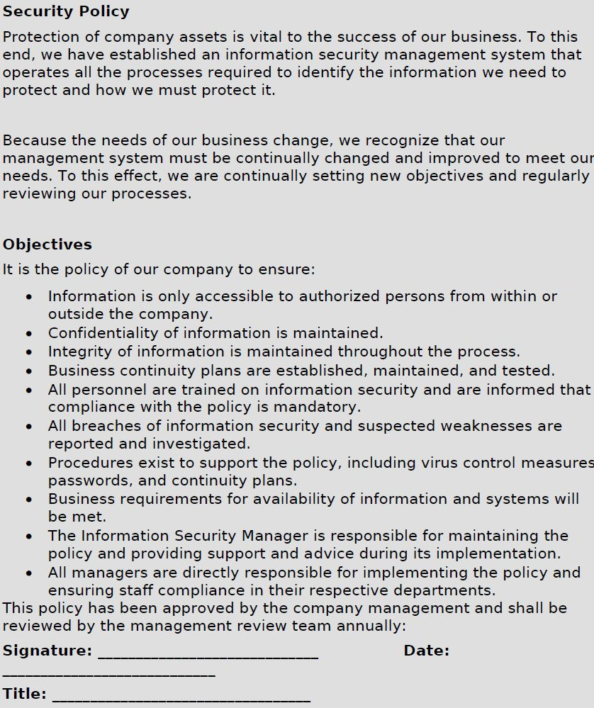 Iso 27001 Risk Essment Template In