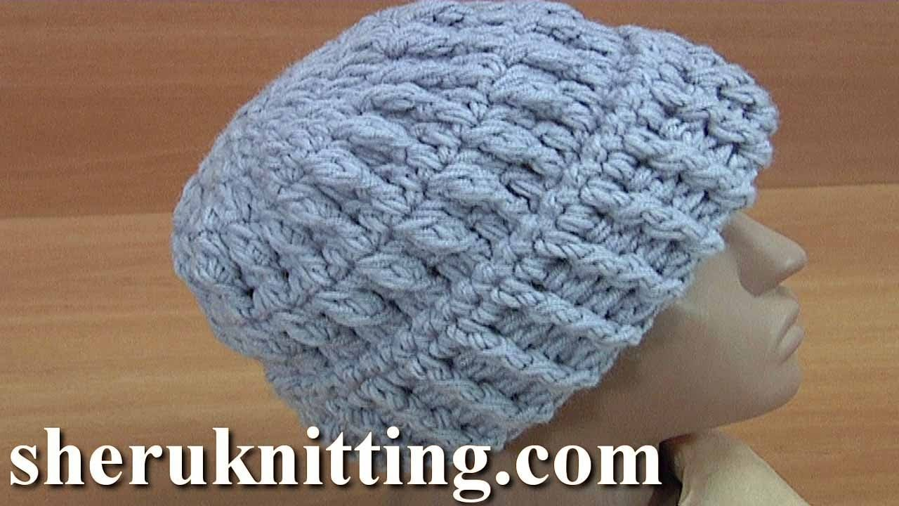 7a193930400 How to Crochet Beanie with Lapel Tutorial 167 Crochet Hats Pattern ...