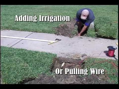 How To Run Electrical Wire Under Driveway: ▷ Sidewalk Sleever - YouTube | Sprinkler System | Lawn sprinkler rh:pinterest.com,Design
