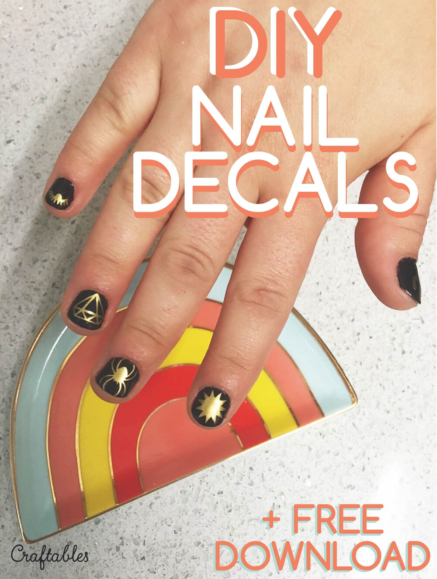 How to make your own nail decals + ten free downloads! | cricut ...
