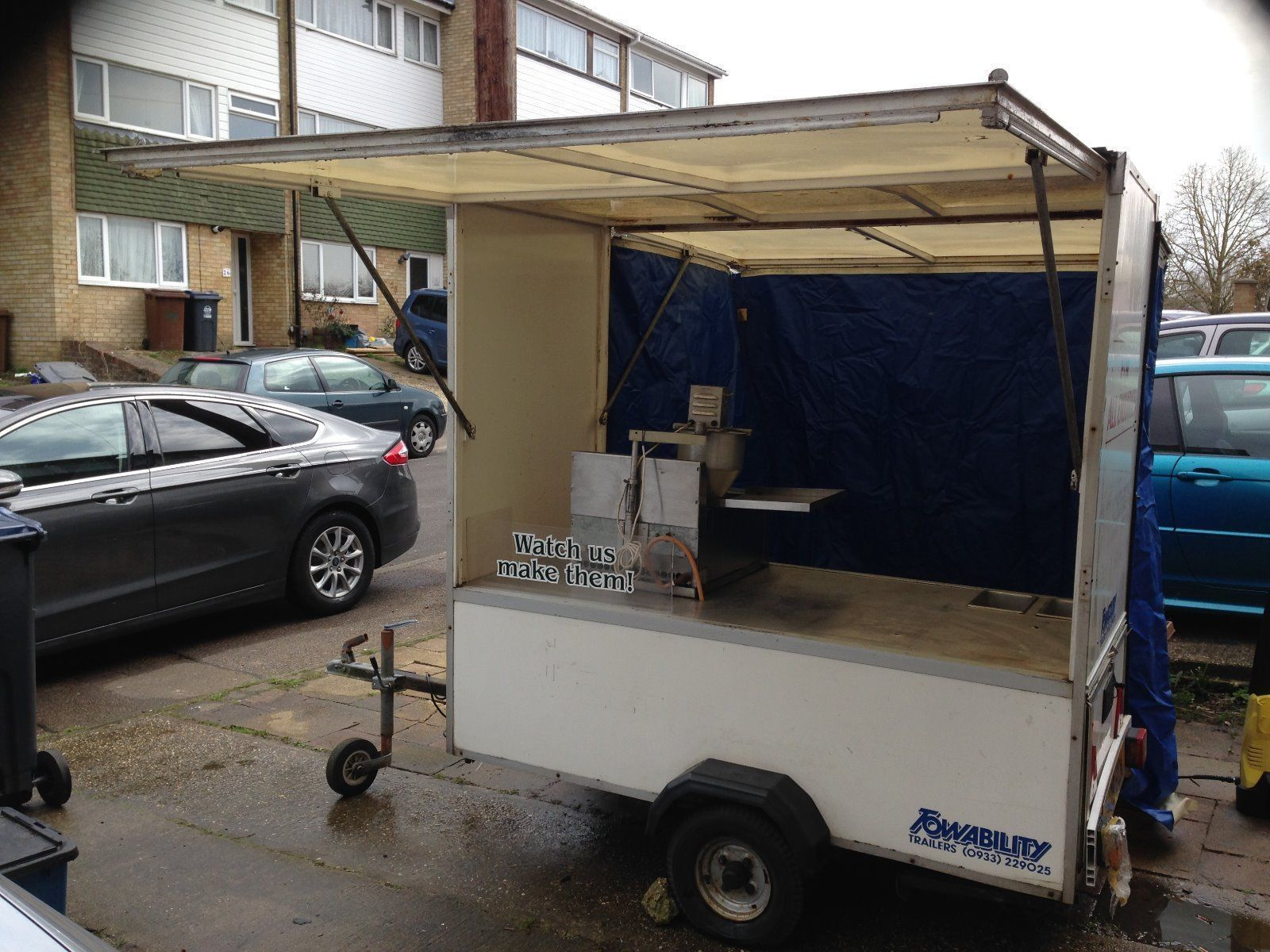 Towability Catering Trailer With Lil Orbits Semi Auto Donut Machine Catering Trailer Trailer Coffee Trailer