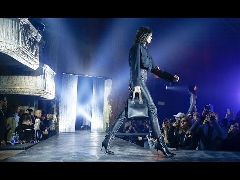 Alexander Wang   Fall Winter 2017 2018 Full Fashion Show   Exclusive 😎I loved the use of Chrome & diamond embellishments with the black. One thing I can count on Alexander Wang for is something LUX in BLACK as NIGHT! So trendy how he tied in the chrome & diamond 💎 embellishments, yet made it look so CLASSIC! 🔥🔥🔥🎶