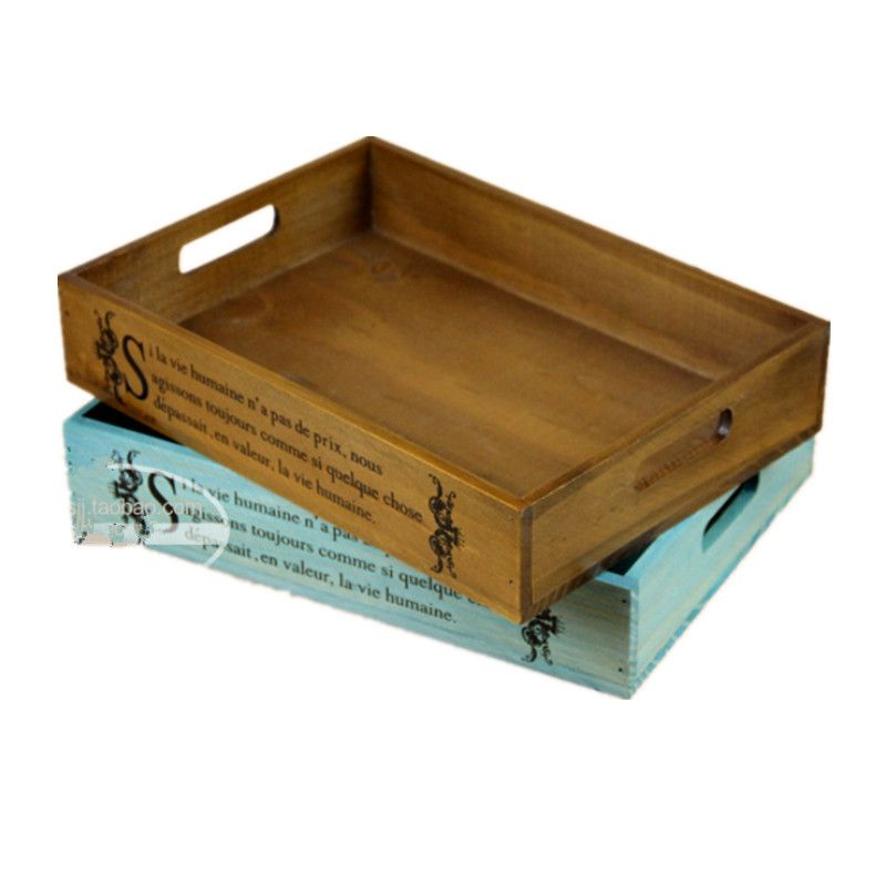 Wooden Trays To Decorate Stunning Vintage Home Decor Serving Tray Wooden Tray Storage Box Wood Tray Review
