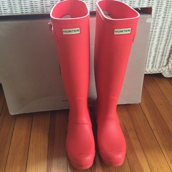 Bright Coral Hunter Boots Bright Coral Women Hunter Boots ...