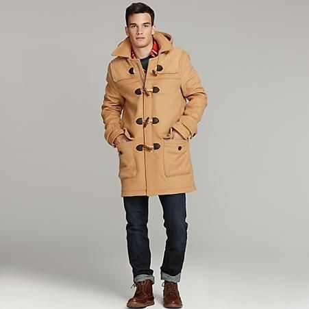 Tommy Hilfiger Camel Duffel Coat | Mens Camel Coat Lookbook for