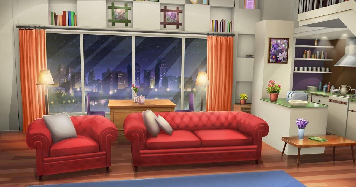 Int Fancy Apartment Living Room Night Cenario Anime Interior Of Cozy Modern Bed Anime In 2020 Living Room Background Wallpaper Living Room Anime Scenery Wallpaper