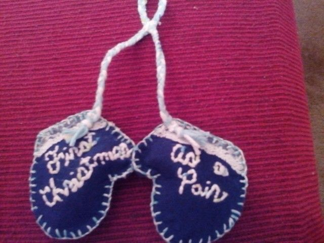 1st Christmas as a Pair - Newlywed ornament (made by S.E.M.)