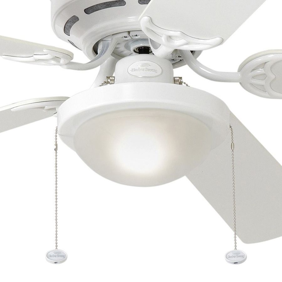 Shop harbor breeze armitage 52 in white flush mount ceiling fan shop harbor breeze armitage 52 in white flush mount ceiling fan with light kit at aloadofball Choice Image