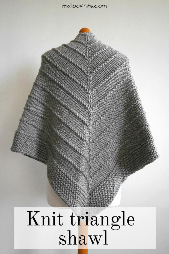 Easy knit triangle shawl pattern - The Ponderosa ...