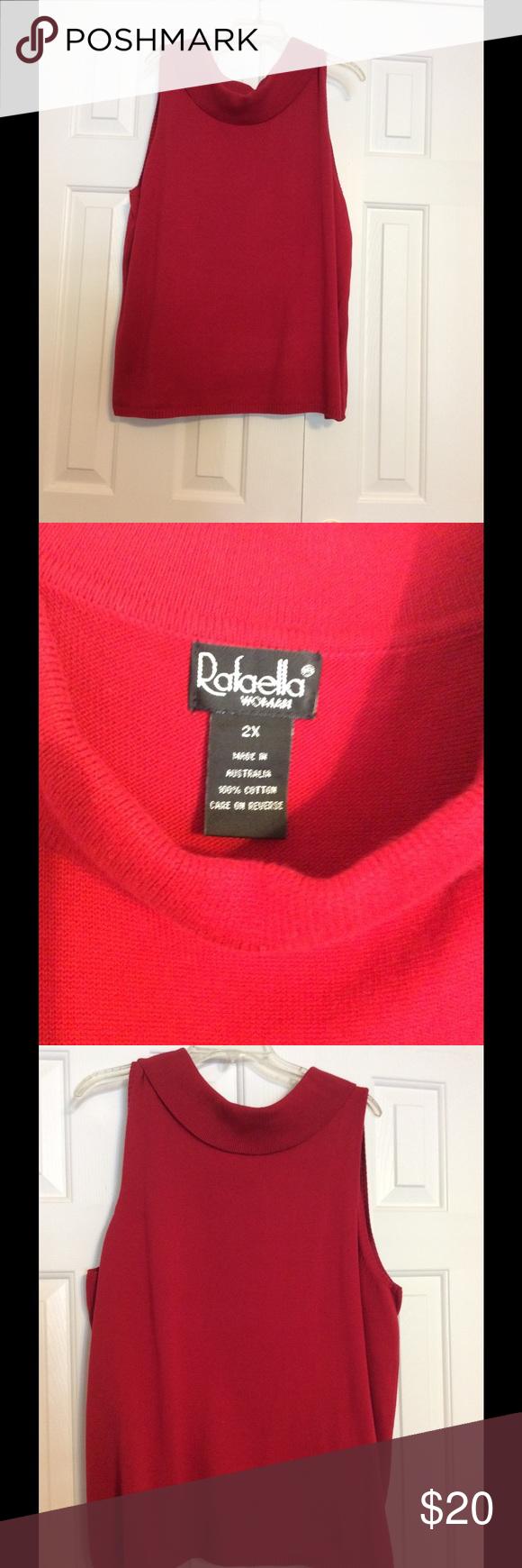 Rafaela Sleeveless sweater shell | Red sweaters, Shell and Cotton