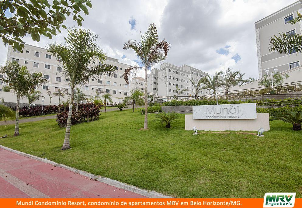 Paisagismo do Mundi Condomínio Resort. Condomínio fechado de apartamentos localizado em Belo Horizonte / MG.