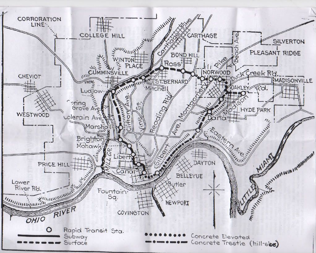 Cincinnati Subway Map.Cincinnati Subway Map Never Completed Project Abandoned