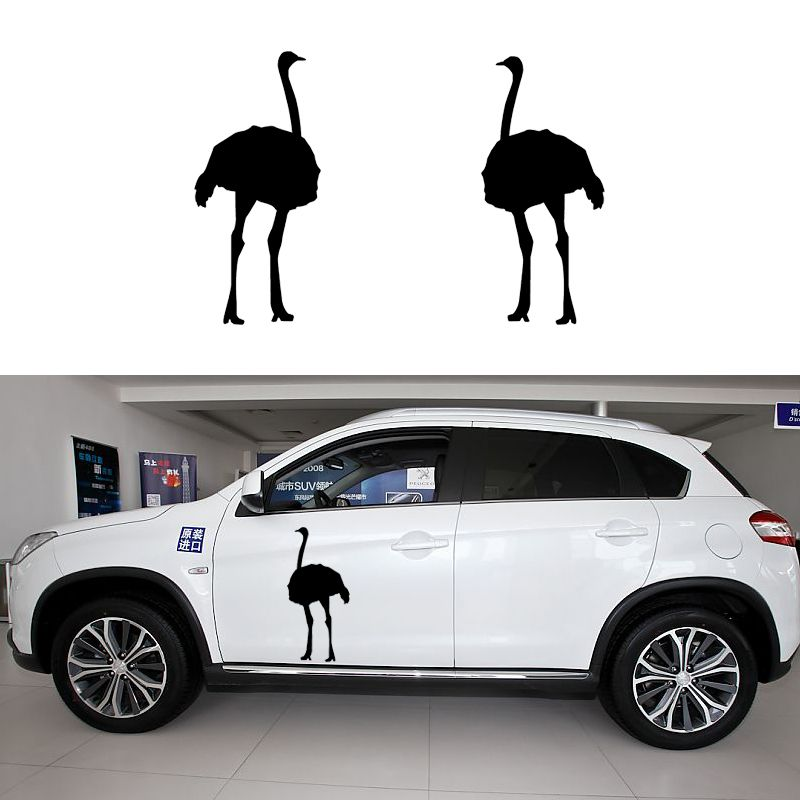 Cm X Cm X Cute Ostrich One For Each SideCar Sticker For - Funny decal stickers for carssticker car window picture more detailed picture about funny car