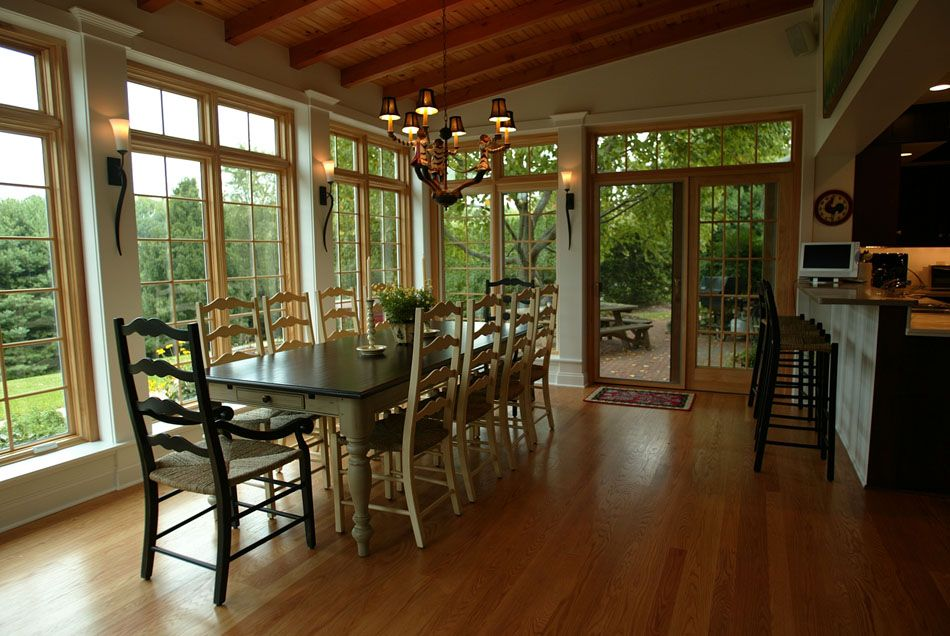 Sunroom Dining Room Ideas Airy Dining Roomlove The Walls Of Floorceiling Length Windows