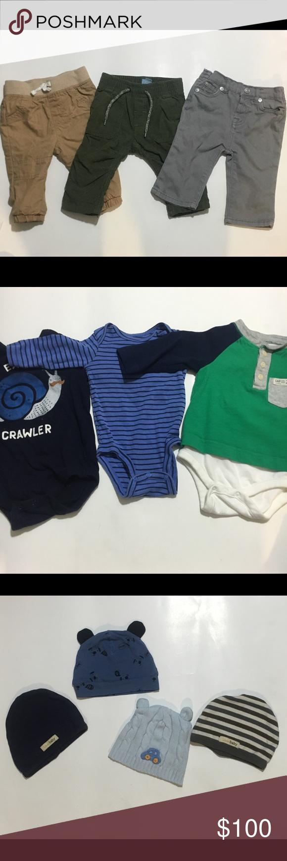 57aaa5096109 Winter baby boy bundle Baby winter bundle all 3-6 months 3 pair of ...