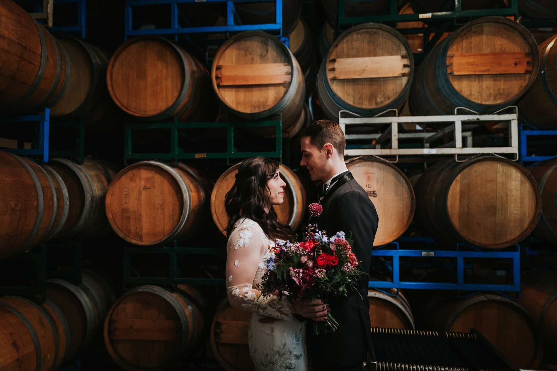 Brooklyn Winery Williamsburg Weddings New York Wedding