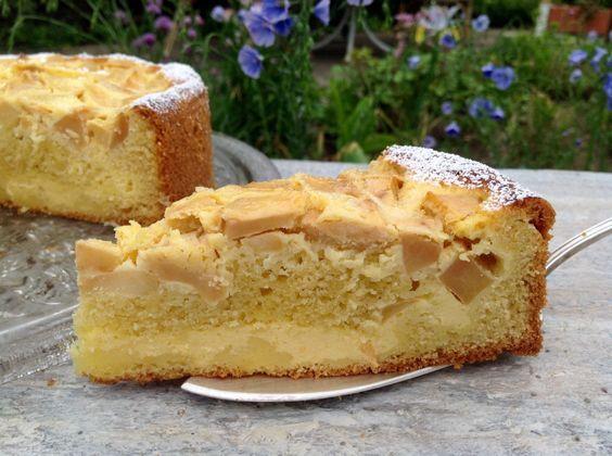 Quark Apfel Kuchen Einfach In Der Zubereitung Aus Meinem Kuchen