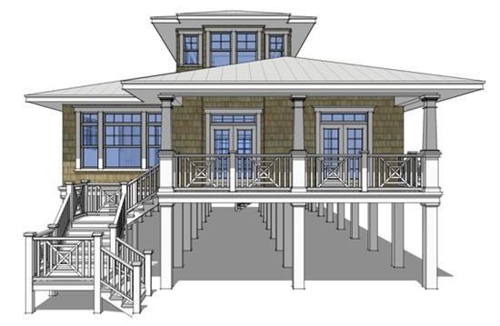 Coastal House Plan (also ICF/Concrete Block)