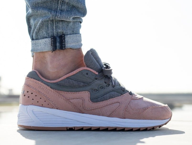 saucony grid 8000 salmon charcoal