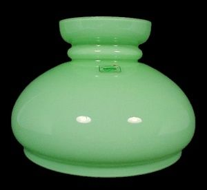 Cased green glass 7 student kerosene oil lamp shade lighting cased green glass 7 student kerosene oil lamp shade lighting replacement lampshade for antique mozeypictures Image collections
