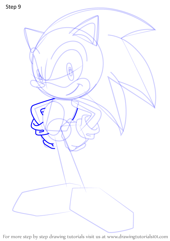 Learn How To Draw Sonic The Hedgehog From Sonic X Sonic X Step By Step Drawing Tutorials How To Draw Sonic Drawings Sonic The Hedgehog