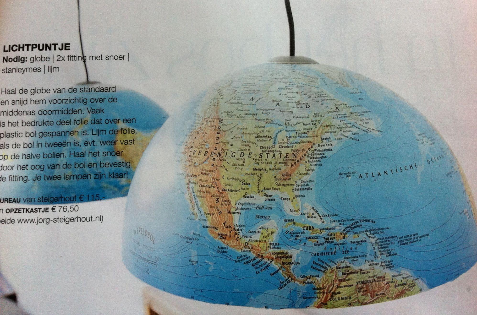 Slaapkamer Lamp Kind : Stoer voor de jongenskamer hanglampen gemaakt van een globe uit