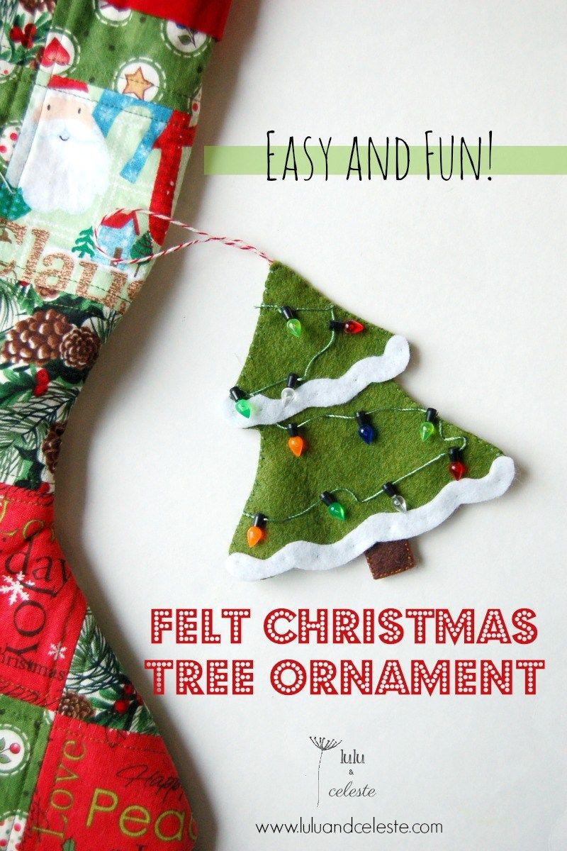 Christmas Tree Ornament Felt Christmas Tree Felt Christmas Christmas Ornament Pattern