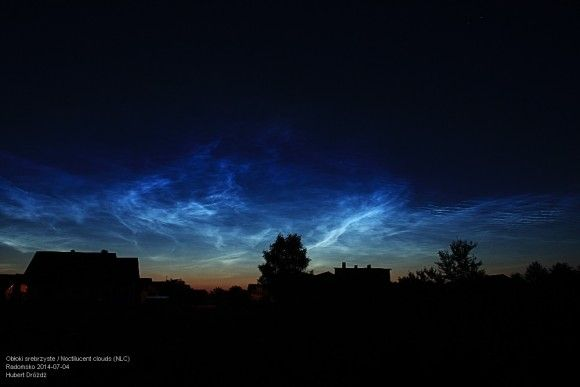 Another photo by Hubert Drozdz of the July 3-4 noctilucent clouds.