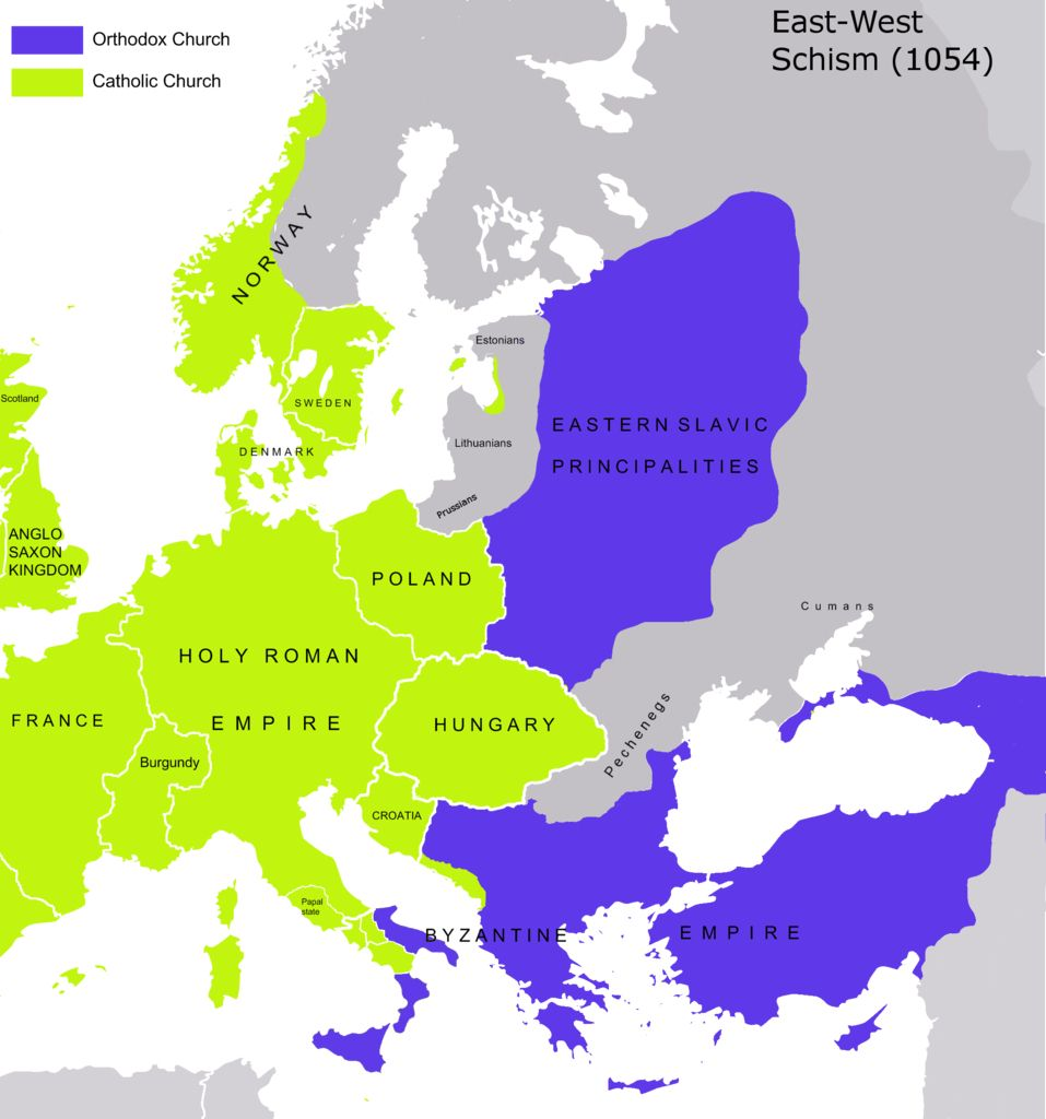 byzantine vs western europe Civilization in eastern europe: byzantine influence formative period for russian civilization western europe free from outside control.