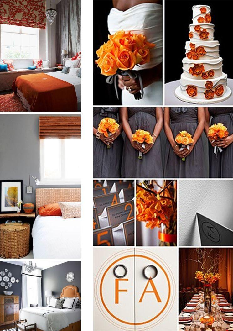grey and orange wedding - Google Search  So so SOcialLead:http://sociallead.co.il/