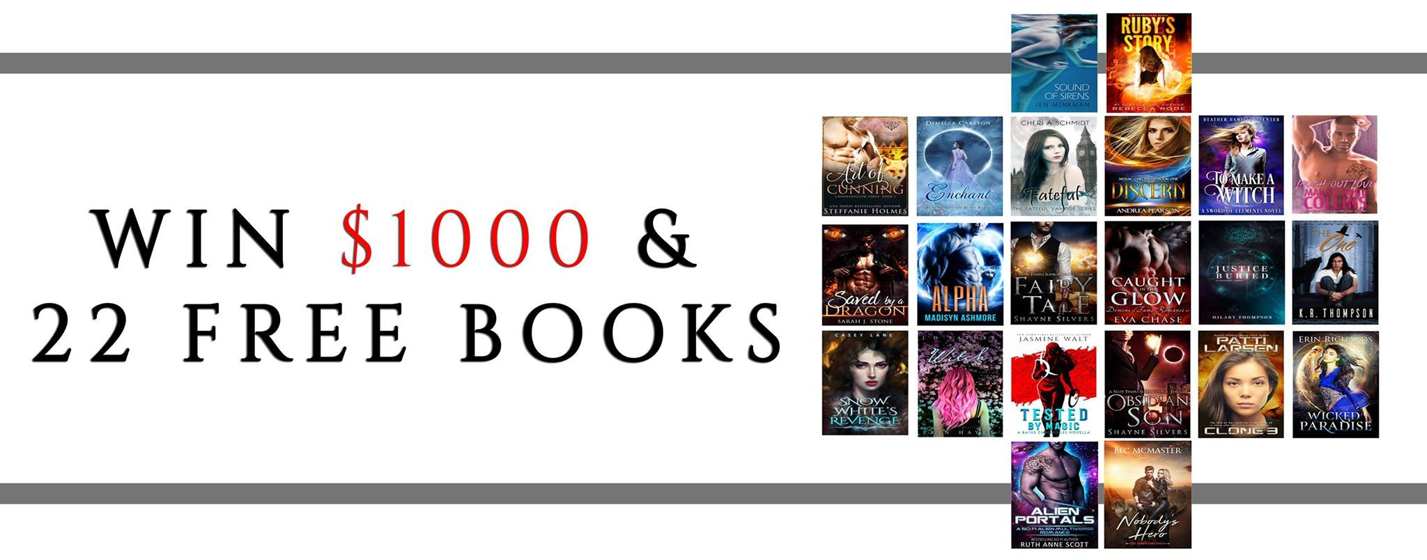 1,000 Amazon Gift Card and 22 Books Giveaway