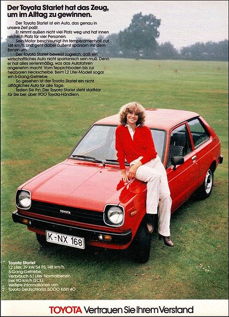 Toyota Starlet, Magazine Ad / Anzeige, AMS 1979 by Georg Schwalbach (GS1311), via Flickr