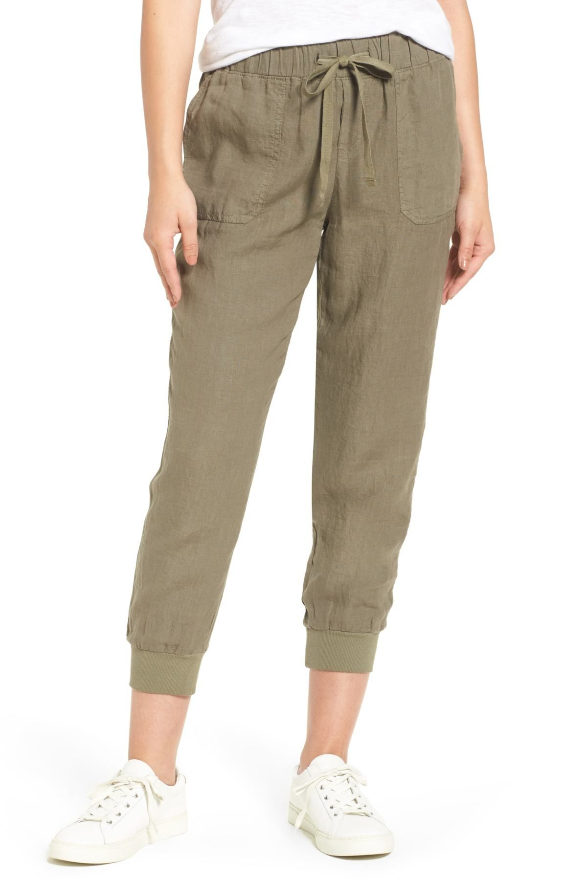 621dbdf09a55 Caslon(R) Linen Jogger Pants (Regular & Petite) in 2019 | clothes ...